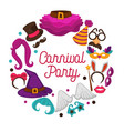 great carnival party advertisement banner with vector image vector image