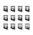 Grey ribbons with number set vector image vector image