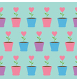 Heart flower in pot Seamless Pattern Wrapping vector image