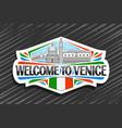 logo for venice vector image vector image