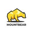 logo mountain bear simple mascot style vector image