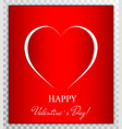 love heart from paper cut style valentines day vector image vector image