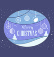 merry christmas papercut style christmas balls vector image