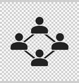 network icon people connection vector image vector image