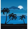 Night summer beach vector image