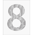 Number eight on a white background vector image vector image