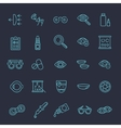 optometry vision correction eyes health icons vector image