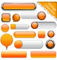 Orange high-detailed modern buttons vector | Price: 1 Credit (USD $1)