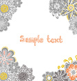 perfect card template with hand drawn flowers vector image vector image