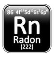 Periodic table element radon icon vector image vector image