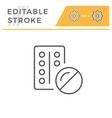 pills editable stroke line icon vector image vector image