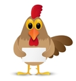 Rooster isolated on white background with place vector image vector image
