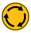 roundabout crossroad road traffic on white vector image vector image