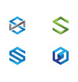 s logo hexagon icon vector image