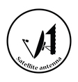 Satellite antenna icon vector image vector image