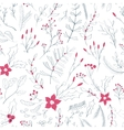 Seamless floral pattern with winter plants vector image vector image