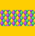 seamless pattern with rhombus in mardi gras colors vector image