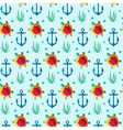 Seamless patterns nautical elements vector image