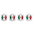 simple made in mexico spanish translation 3d vector image vector image
