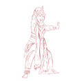 simple outline sketch remo traditional dancer vector image vector image