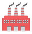 Single Factory Building Flat Design vector image
