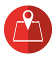 smartphone pin map location gps shadow vector image vector image
