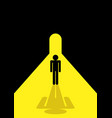 stick figure standing in the tunnel vector image