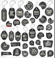 stickers and tags retro vintage collection vector image vector image