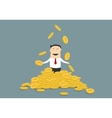 Successful businessman juggling his money coins vector image