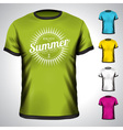 t-shirt set with summer holiday vector image vector image