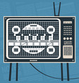 television no signal concept vector image vector image