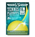 tennis poster design for sport bar vector image vector image