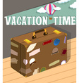 Vacation time with luggage vector image