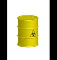 Vertical Biohazard yellow barrel vector image vector image