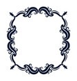 vintage ornate wreath and scroll banner vector image vector image