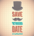 vintage save date card vector image