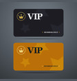vip card template with logo and abstract vector image vector image