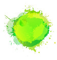 yellow green digital watercolor splash vector image