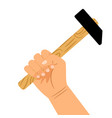 hand with hammer icon vector image