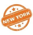 New York round stamp vector image