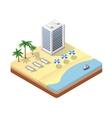 isometric seascape beach vector image