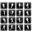 16 soccer icons vector image vector image