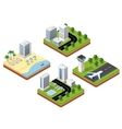 3d isometric icons travels vector image