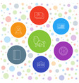 7 identity icons vector image vector image