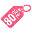 80 percent off tag vector image