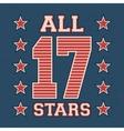 All stars vintage stamp vector image vector image