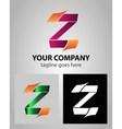 Alphabet icon Z logo vector image vector image