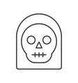 angel of death under black hood halloween vector image vector image