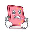 angry diary mascot cartoon style vector image