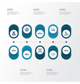 automobile outline icons set collection of vector image vector image